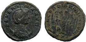 Severina, Augusta, 270-275. Antoninianus, Ticinum, 275. SEVERINA AVG Diademed and draped bust of Severina to right, set on crescent. Rev. CONCORDIAE M...