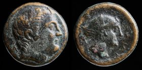 THESSALY, Phalanna, c. 350 BCE, AE 18 (dichalkon or trichalkon). 6.53g, 17.5mm.