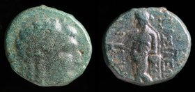 SELEUKID KINGDOM: Antiochos III 'the Great' (222-187 BCE), AE15 unit, issued c. 197-187. Sardes, 4.46g, 14-16mm. 