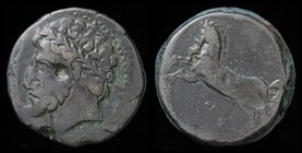 NUMIDIA: Massinissa or Micipsa (203-148 BCE) AE26. 15.10g, 26mm.