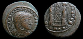 LATE DANUBIAN: Contemporary imitation of Constantine I 'The Great' (307-337), AE 3, copying Siscia issue of c. 320. 2.13, 17mm.