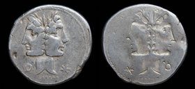 Brockage of C. Fonteius, 114-113 BCE, AR denarius. Rome, 3.87g, 20mm. 