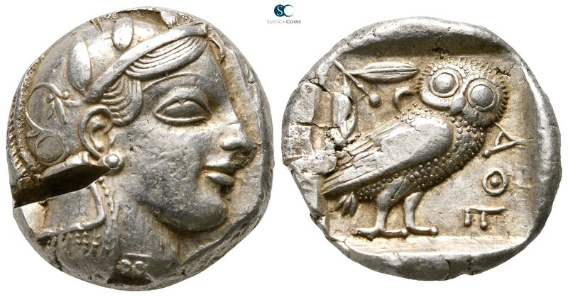 Attica. Athens 459-449 BC. Struck during the period of Cimon's exile and until h...