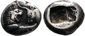 LYDIA. Kroisos. Circa 564/53-550/39 BC. AR Hemistater.
