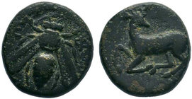 IONIA. Ephesos . (circa 390-300 BC).AE Bronze.