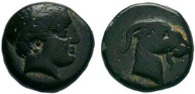 AEOLIS. Aigai. 4th-3rd centuries BC. AE Bronze
