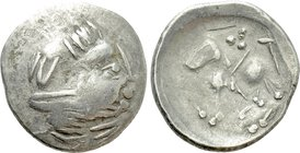 "EASTERN EUROPE. Imitations of Philip II of Macedon (2nd century BC). 'Tetradrachm.' ""Sattelkopfpferd"" type."