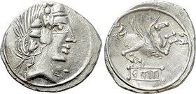 EASTERN EUROPE. Imitations of Roman Republican (After 75 BC). Denarius. Imitating Q. Titius.