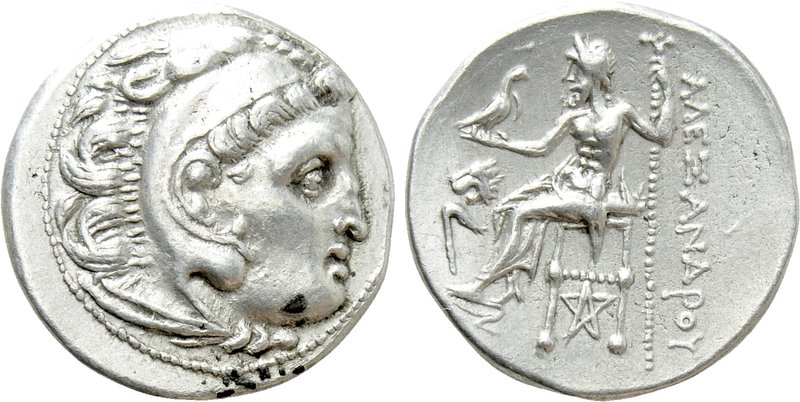 KINGS OF THRACE (Macedonian). Lysimachos (305-281 BC). Drachm. Kolophon. In the ...