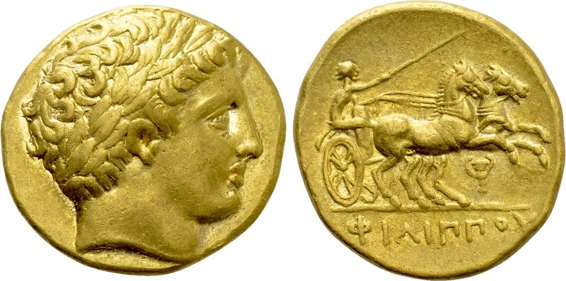 KINGS OF MACEDON. Philip II (359-336 BC). GOLD Stater. Pella. Possible lifetime ...