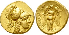 KINGS OF MACEDON. Alexander III 'the Great' (336-323 BC). GOLD Stater. Sidon.