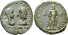MOESIA INFERIOR. Tomis. Gordian III with Tranquillina (238-244). Ae Tetrassarion.