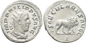 PHILIP I THE ARAB (244-249). Antoninianus. Rome. Saecular Games / 1000th Anniversary of Rome issue.
