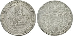 GERMANY. Saxony. August (1553-1586). Taler (1564). Dresden.