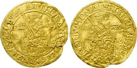 GERMANY. Saxony. Johann Georg I (1611-1656). GOLD 1 Ducat (1617).