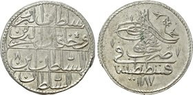 OTTOMAN EMPIRE. Abdul Hamid I (AH 1187-1203 / AD 1774-1789). Zolota. Konstantiniye (Constantinople). Dated Year 1187 (AD 1774).