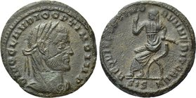 DIVUS CLAUDIUS II GOTHICUS (Died 270). Fractional Follis. Siscia. Struck under Constantine I the Great.