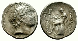SELEUKID KINGS of SYRIA. Antiochos III. 223-187 BC. AR Tetradrachm   Condition: Very Fine  Weight: 16.16 gr  Diameter: 30.20 mm