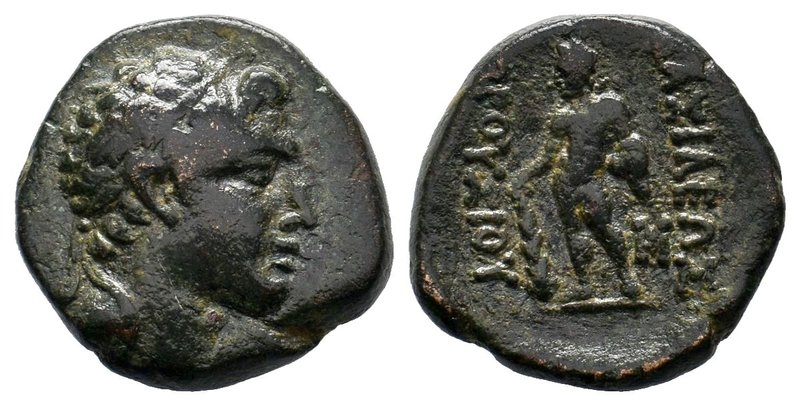 KINGS OF BITHYNIA. Prusias II Cynegos (182-149 BC). Ae. Obv: Head right, wearing...