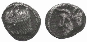 Cilicia, Nagidos AR Obol. c. 420-400. Head of Pan r. / Bearded head of Dionysos r. SNG BnF 16-18.  Condition: Very Fine  Weight:0,99gr  Diameter:9mm F...