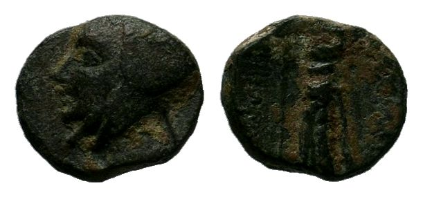 KINGS OF CAPPADOCIA. Ariarathes III (230-220 BC). Ae.Obv: Head of Ariarathes III...