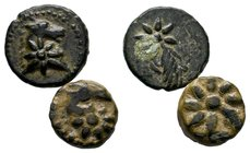 2X PONTOS. Uncertain. Ae (Circa 130-100 BC).Obv: Head of horse right; star on neck.Rev: Comet left.SNG BM Black Sea 984; HGC 7, 317.   Condition: Very...