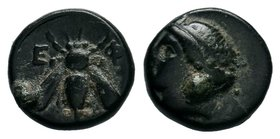 Ephesos, Ionia. 4th-3rd C. BC.AE Bronze  Condition: Very Fine  Weight: 1.30gr Diameter: 11.07mm  From a Private DUTCH Collection.
