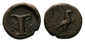 Aiolis. Kyme circa 350-250 BC. AE Bronze  Condition: Very Fine  Weight: 0.83gr Diameter: 10.19mm  From a Private Dutch Collection.