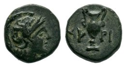 AEOLIS. Myrina. Ae (400-200 BC).  Condition: Very Fine  Weight: 1.05gr Diameter: 9.33mm  From a Private Dutch Collection.