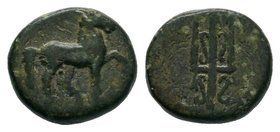 CARIA. Mylasa. Ae (Circa 210-30 BC).  Condition: Very Fine  Weight: 1.49gr Diameter: 10.22mm  From a Private Dutch Collection.