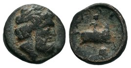 KINGS OF THRACE. Seuthes III (Circa 323-316 BC). Ae.  Condition: Very Fine  Weight: 1.95gr Diameter: 14.51mm  From a Private Dutch Collection.