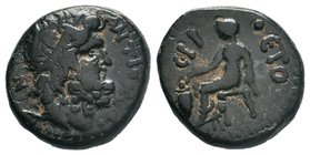 SYRIA, Seleucis and Pieria. Antioch. Pseudo-autonomous issue. Assarion (Bronze,  Condition: Very Fine  Weight: 6.17gr Diameter: 17.86mm  From a Privat...