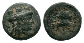 Smyrna, Ionia, AE11, 170-145 BC.   Condition: Very Fine  Weight: 1.41gr Diameter: 10.87mm  From a Private Dutch Collection.