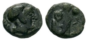 IONIA. Uncertain Ae (Circa 480-400 BC).  Condition: Very Fine  Weight: 1.02gr Diameter: 10.98mm  From a Private Dutch Collection.