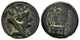 Cilicia. Tarsos after 164 BC. Bronze Æ  Condition: Very Fine  Weight: 6.59gr Diameter: 20.64mm  From a Private Dutch Collection.