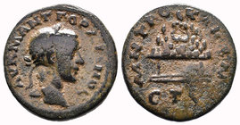 CAPPADOCIA. Caesarea. Gordian III (238-244). Ae Obv: AV K M ANT ΓOPΔIANOC. Laureate and draped bust right. Rev: MHTPO KAIC B N / ЄT S. Agalma of Mount...