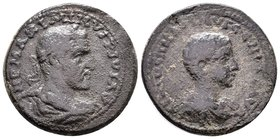 CILICIA. Ninica-Claudiopolis. Maximinus I, with Maximus Caesar, 235/6-238. Tetrassarion. IMP MAXIMINVS PIVS AVG Laureate, draped and cuirassed bust of...
