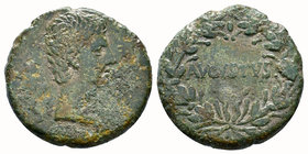 Province of Asia - Augustus (27 BC-AD 14), c. 25 BC, AE, Bare head r. , Rv. AVGVSTVS within wreath. RPC 2235; BMC 371.    Condition: Very Fine  Weight...
