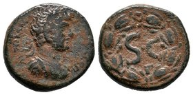 Syria, Seleucis and Pieria. Antiochia ad Orontem. Hadrian. A.D. 117-138. Æ   Condition: Very Fine  Weight:6,37gr  Diameter: 20mm Property of a Dutch C...