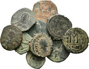 Lot of 10 x mixed Byzantine coins / SOLD AS SEEN, NO RETURN ACCEPTED!!!