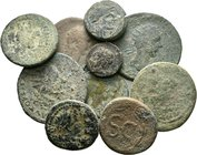 Lot of 10 x mixed Roman-greek coins / SOLD AS SEEN, NO RETURN ACCEPTED!!!