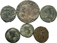 Lot of 6 x mixed Roman-greek coins / SOLD AS SEEN, NO RETURN ACCEPTED!!!