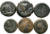 Lot of 6 x mixed greek coins, / SOLD AS SEEN, NO RETURN ACCEPTED!!!