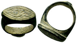 Ancient Roman Fertility Ring, Eye Shape Condition: Very Fine  Weight: 11,61 gr Diameter: 26,55 mm