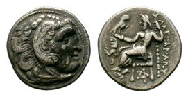 KINGS of MACEDON. Alexander III 'the Great'. 336-323 BC. AR Drachm  Condition: Very Fine  Weight: 4.09 gr Diameter: 17.96 mm