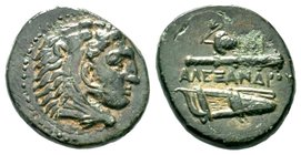 Kings of Macedon. Alexander III.the Great. 336-323 BC. AE bronze  Condition: Very Fine  Weight: 6.33 gr Diameter: 20.89 mm