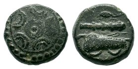 "Kings of Macedon. Uncertain mint. Alexander III ""the Great"" 336-323 BC .AE bronze  Condition: Very Fine  Weight: 3.72 gr Diameter: 13.26 mm"
