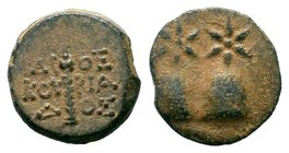 KOLCHIS, Dioskourias. Late 2nd-1st century BC. AE bronze  Condition: Very Fine  Weight: 1.99 gr Diameter: 14.58 mm