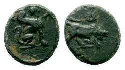 Caria. Kaunos circa 350-300 BC.AE Bronze   Condition: Very Fine  Weight: 0.84 gr Diameter: 12.04 mm