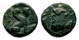 Caria. Kaunos circa 350-300 BC.AE Bronze ü  Condition: Very Fine  Weight: 1.27 gr Diameter: 10.89 mm